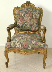Antique French Arm Chair Victorian Parlour Style Circa 1880