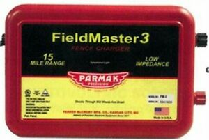 Parmak Fieldmaster 2 Low Impedance 110 120 Volt 15 Mile Range Electric Fence Ch
