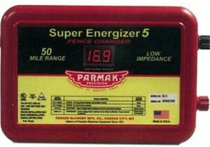 Parmak Super Energizer 4 Low Impedance 110 120 Volt 50 Mile Range Electric Fenc