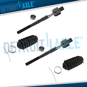New 2 Front Inner Tie Rods 2 Boots For Bmw