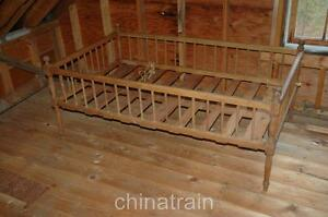 Antique Vintage Doll Display Childs Bed 64x38 Circa 1850 1870