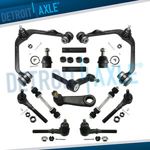 Ford F 150 Expedition 4wd 14pc Front Upper Control Arm Idler Sway Bar Tierod Kit
