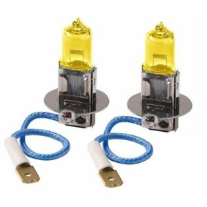 2x H3 Halogen 3000k 100w Fog Driving Light Bulbs Bright Yellow Xenon Replacement