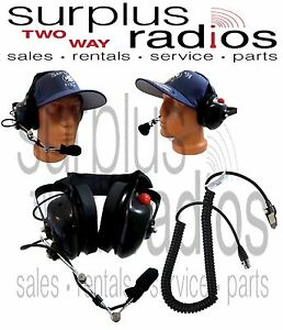 Dual Muff Headset For Kenwood Nx 5400 Nx 5300 Nx 5400 Nx 210 Nx 410 Nx 411