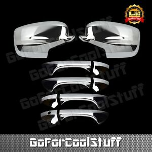 For 2008 2012 Honda Accord Chrome Full Mirror 4drs Handle Covers