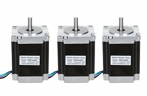 us Ship 3pcs Wantai Stepper Motor 57bygh627 Nema23 270oz in 3a 76mm Cnc Router
