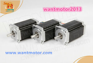 Free To Usa Wantai 3pcs Nema34 Stepper Motor Single Shaft 6a 1700oz in Cnc Kit