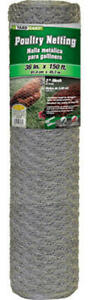 4 G b 308495b 36 X 150 Ft 2 Mesh Galvanized Poultry Netting Chicken Fence