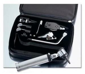 Adc 2 5v Portable Otoscope Opthalmoscope Complete Diagnostic Set With Case 5215