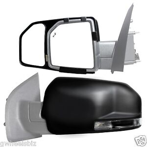 2015 2016 2017 2018 Ford F 150 Clip Snap On Towing Side Mirror Extension Pair