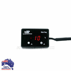 Digital Water Temp Gauge Red Led Universal Fit N a Turbo Supercharger Kit