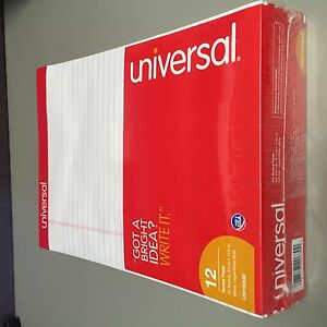 Universal Unv20630 Perforated Edge Writing Pad Legal Ruled Letter White