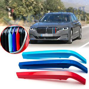 M Colored Kidney Grille Insert Trims For Bmw G11 7 Series 2020 W 8 Beam Grill