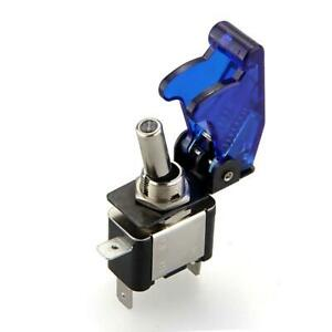 Spst Blue Led Light Metal Tip Toggle Switch 12v 20a On Off Automotive Car Boat