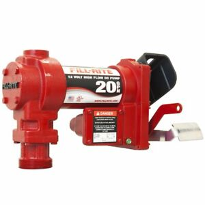 Fill rite Fr2405ge 57 Lpm 24 volt 1 5 meter Clipped Ground Wire Dc Pump