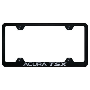 Wide Body License Plate Frame With Acura Tsx On Black officially Licensed