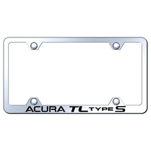 Wide Body License Plate Frame With Acura Tl Type S On Steel licensed
