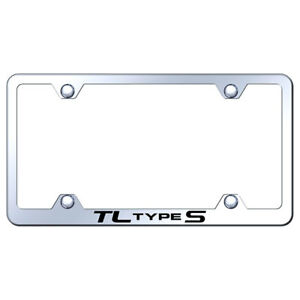 Wide Body License Plate Frame With Acura Tl Type S Name On Steel licensed
