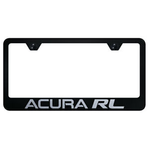 License Plate Frame With Acura Rl Laser Etched On Black officially Licensed