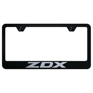 License Plate Frame With Acura Zdx Laser Etched On Black officially Licensed