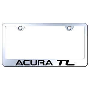 License Plate Frame With Acura Tl On Stainless Steel officially Licensed