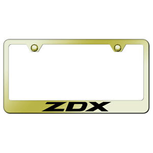 License Plate Frame With Acura Zdx Laser Etched On Gold officially Licensed