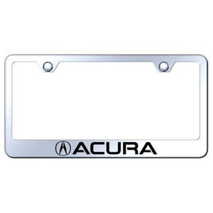 License Plate Frame With Acura On Chrome Metal officially Licensed