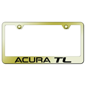 License Plate Frame With Acura Tl Laser Etched On Gold officially Licensed