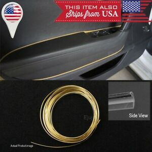 16 Gold Chrome Stripe Trim Line Insert For Dodge Console Dashboard Door Panel