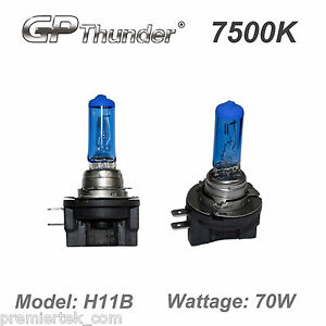 Gp Thunder 7500k H11b Super White Xenon Light Bulbs High Wattage Gp75 H11b70w