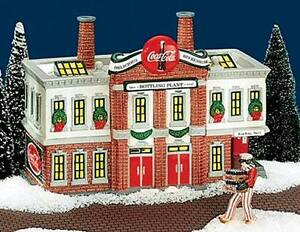 DEPT 56 Snow Village: Coca-Cola Bottling Plant