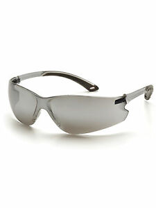 Pyramex Itek Safety Glasses Gray Temple Silver Mirror Lens S5870s One Dozen