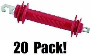 20 Ea Dare Products 503 Old Faithful Red Styrene Electric Fence Gate Handles