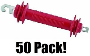50 Ea Dare Products 503 Old Faithful Red Styrene Electric Fence Gate Handles