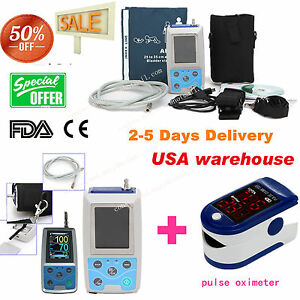 24h Nibp Holter Ambulatory Blood Pressure Monitor Abpm50 spo2 Oximeter Us Fda Ce