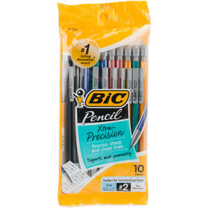 Bic Mplmfp101 blk 5mm Mechanical Pencil pk12
