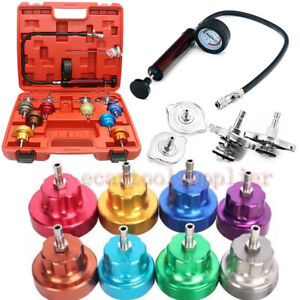 Automotive Cooling System Radiator Pressure Tester Pump Gauge Leak Detector Kits