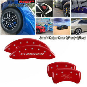 Caliper Covers For Dodge 12181schrrd Mgp 2011 2016 Red Charger Rt