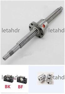 Sfu1204 Series Ball Screw From L200mm To L850mm With Single Ballnut For Cnc