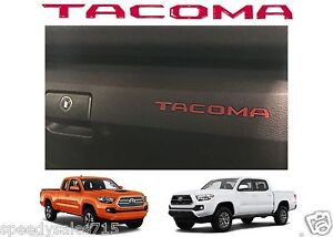 Red Glove Box Dashboard Letter Inserts For 2016 2017 Toyota Tacoma New Free Ship