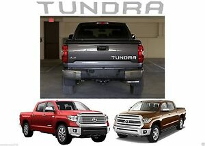 Chrome Mirror Tailgate Letter Inserts For 2014 2019 Toyota Tundra New Free Ship