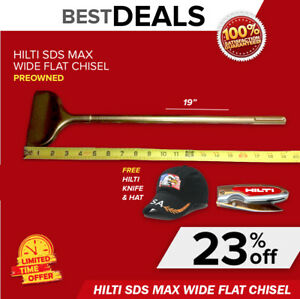 Hilti 19 Sds Max Te yp spm Wide Flat Chisel Preowned Free Extras Fast Ship