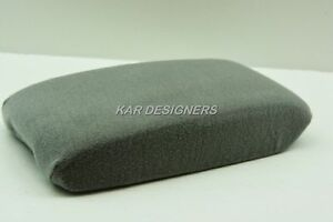Fabric Center Console Lid Armrest Cover Protection Gray Fits 04 09 Toyota Prius