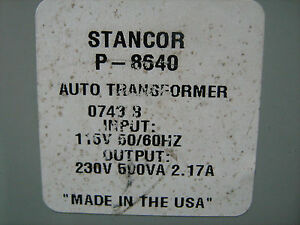 Stancor Step up Transformer P 8640 120 240 Vac 500va Free Shipping