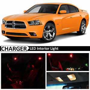 18x Red Interior Led Lights Package Kit For 2011 2014 Dodge Charger