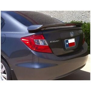 Un painted Fits Honda Civic 4dr Sedan 2012 2015 2 Post Lighted Spoiler Wing New