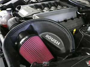 Roush 2015 2017 Ford Mustang Gt V8 5 0 Cold Air Intake Kit Adds 10hp Part 421826