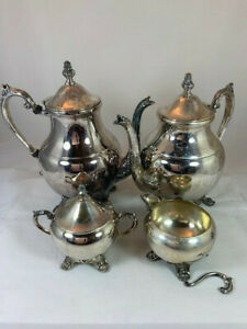 4 Pc Fb Rogers Silver Co 1883 Victorian Silverplate Coffee Tea Service Set