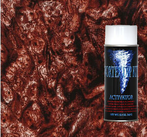 Hydrographics Film Activator Hydrodipping Water Transfer Red Burl Wood
