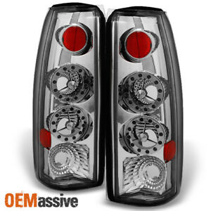 Fit 88 00 C k C10 Gmc Sierra Yukon Pickup Truck Led Chrome Tail Light Lamps